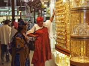 在迪拜购物的场景
